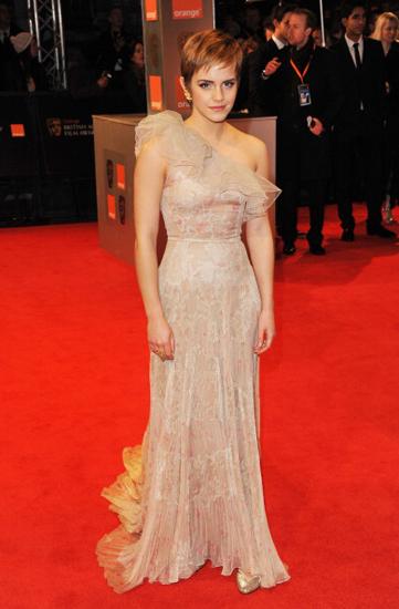 Emma Watson 2011 BAFTAs Hair by Carlos Ferraz