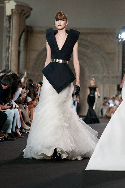 Stephane Rolland Couture Autumn Winter collection - Hair by Brooks and Brooks