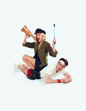 Fearne Cotton and Jimmy Carr launch Sport Relief 2012 - Styling by Gemma Rose Breger
