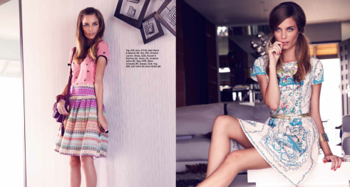 Cosmopolitan Magazine - Photography by Ben Riggott / Hair & Make-up by Lisa Valencia