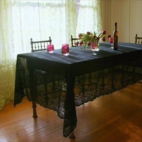 Pearl Lowe lace tablecloths