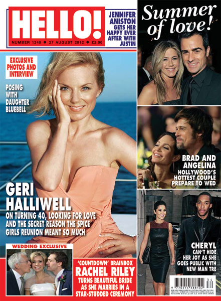 Geri Halliwell for Hello Magazine - Hair by Jonothon Malone