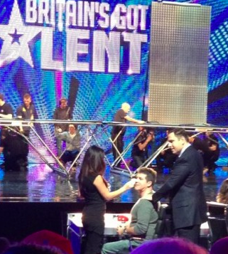 Julia works on Simon Cowell at the BGT Auditions
