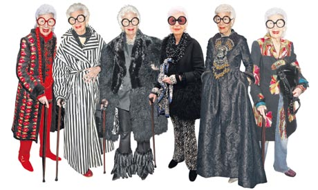 Iris Apfel, 90-year-old New York fashion icon: Photo by The Guardian