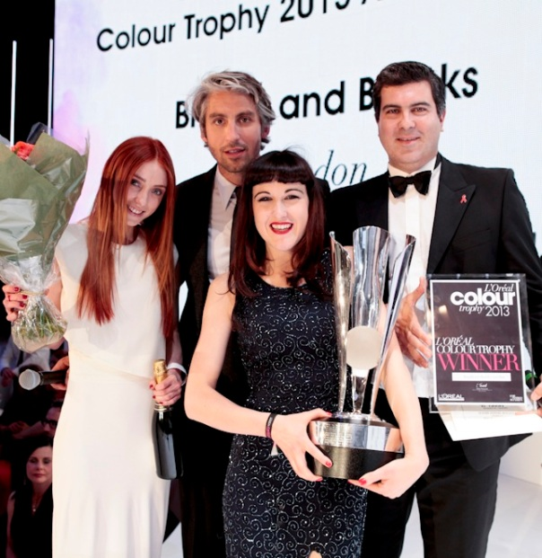 2013 L'Oréal Colour Trophy Trophy Winner, Brooks & Brooks, London (1)